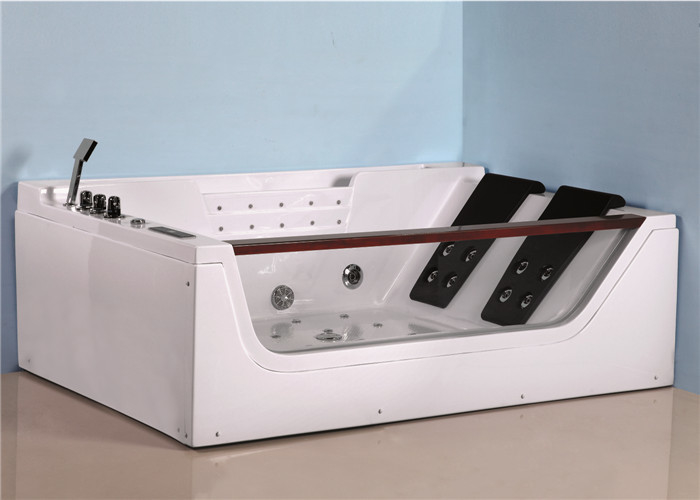 Luxury cheap bathtub whirlpool massage bathtub price with different sizes ABS glass jacuzzi bathtub for villa house