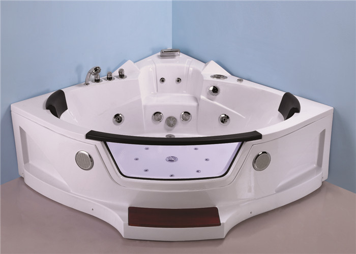 Quadrant Shape Corner Whirlpool Bathtub For Small Bathroom ABS Material