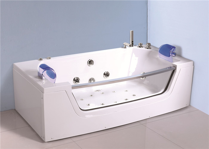 Retangle Jacuzzi Whirlpool Bath Tub Freestanding With 10 Small Jets