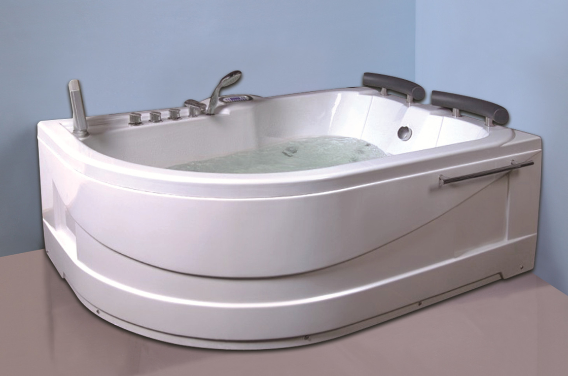Air Bath Tub With Heater , 2 Person Jacuzzi Tub Indoor Handle Shower Included