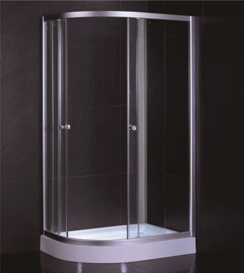 D Sector Shape Glass Shower Cabin Framed Corner Shower Cubicle Space Saving