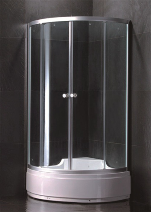 Custom Made Single Door Shower Enclosure Large Shower Stall With Entry Sliding Door