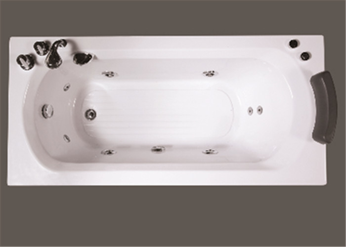 Comfortable Freestanding Air Jet Tub , Large Rectangle Jacuzzi Bathtub OEM