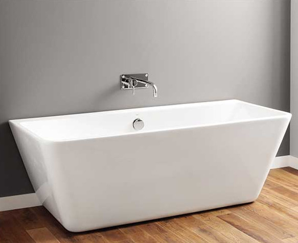 Pedestal Type Rectangular Freestanding Bathtub , Square Soaking Tub Small